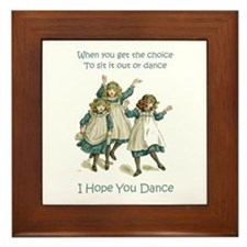 I HOPE YOU DANCE Framed Tile