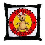 Teddy Bear Rescue Throw Pillow