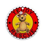 Teddy Bear Rescue Ornament (Round)