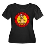 Teddy Bear Rescue Women's Plus Size Scoop Neck Tee