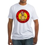 Teddy Bear Rescue Fitted T-Shirt