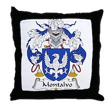 Montalvo Family Crest  Throw Pillow
