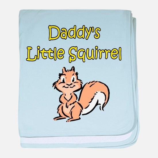 DADDY'S LITTLE SQUIRREL baby blanket