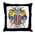Miguel Family Crest Throw Pillow
