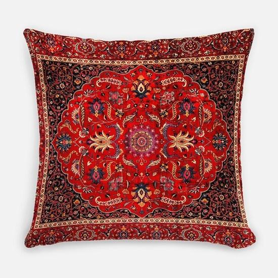 Persian Mashad Rug Everyday Pillow