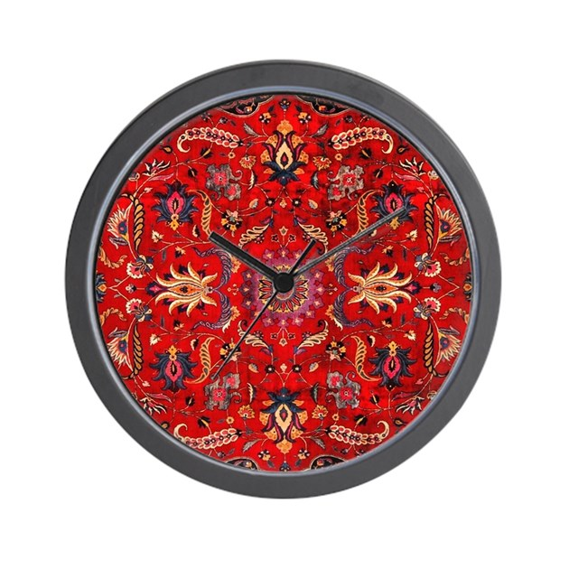 Persian Mashad Rug Wall Clock By Listing-store-113483648
