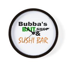 Bubba's Bait Shop & Sushi Bar Wall Clock