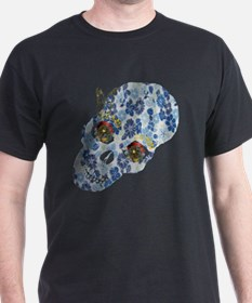 Floral Skull with Butterfly T-Shirt