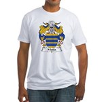 Mexia Family Crest Fitted T-Shirt