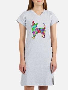 Multi Color Chihuahua Women's Nightshirt