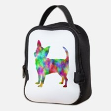 Multi Color Chihuahua Neoprene Lunch Bag