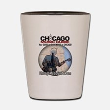 Chicago Music Guide Map 01 Shot Glass