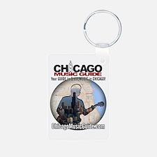 Chicago Music Guide Map 01 Aluminum Photo Keychain