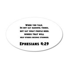 Ephesians 4 : 29 Wall Decal