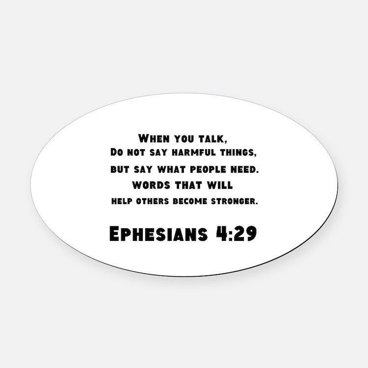 Ephesians 4 : 29 Oval Car Magnet