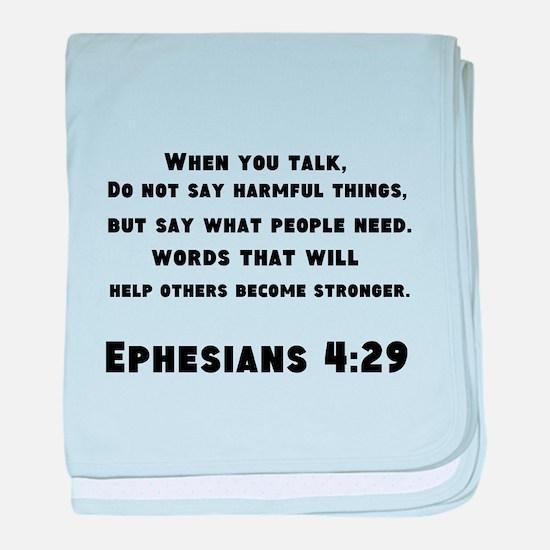 Ephesians 4 : 29 baby blanket
