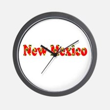 New Mexico Red Cool Pattern Jerry's Fav Wall Clock