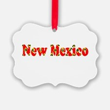 New Mexico Red Cool Pattern Jerry Ornament