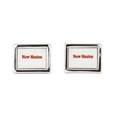 New Mexico Red Cool Pattern Rectangular Cufflinks