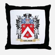 Gelber Coat of Arms - Family Crest Throw Pillow