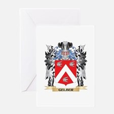 Gelber Coat of Arms - Family Crest Greeting Cards