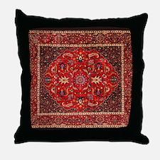 Persian Mashad Rug Throw Pillow
