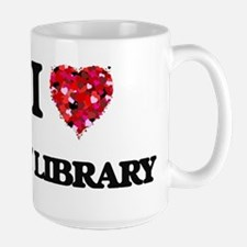 I Love My Library Mugs