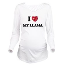 I Love My Llama Long Sleeve Maternity T-Shirt