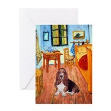 Room with a Basset Greeting Card