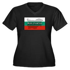 Bulgaria Flag Extra Women's Plus Size V-Neck Dark