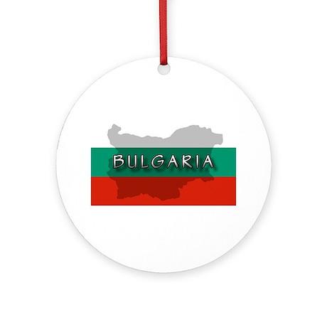 Bulgaria Flag Extra Ornament (Round)