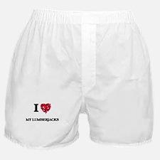 I Love My Lumberjacks Boxer Shorts