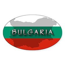 Bulgaria Flag Extra Oval Decal