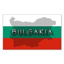 Bulgaria Flag Extra Rectangle Decal