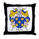 Mena Family Crest Throw Pillow