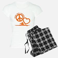PEACE-LOVE-ROWING Pajamas
