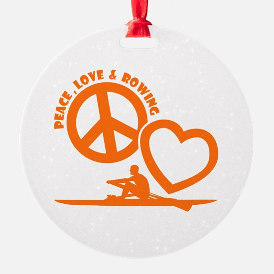 PEACE-LOVE-ROWING Ornament