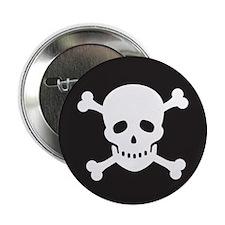 "Classic Pirate Skull 2.25"" Button (10 pack)"