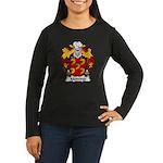 Medeiros Family Crest Women's Long Sleeve Dark T-S