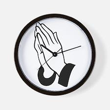 Praying Hands Wall Clock