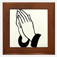 Praying Hands Framed Tile