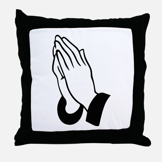 Praying Hands Throw Pillow