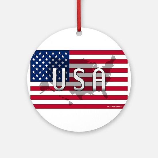 USA Flag Extra Ornament (Round)