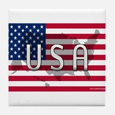USA Flag Extra Tile Coaster