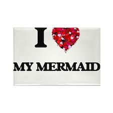 I Love My Mermaid Magnets