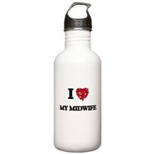 I Love My Midwife Water Bottle