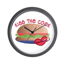 Kiss The Cook Wall Clock