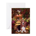 The Path & Basset Greeting Card