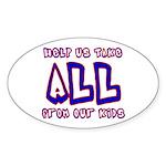 Take ALL Oval Sticker