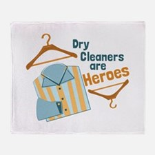 Dry Cleaners Throw Blanket